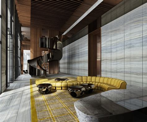 Small Home Lobby Interior Design Lobby Designs By Yabu Pushelberg To Copy For Your Home