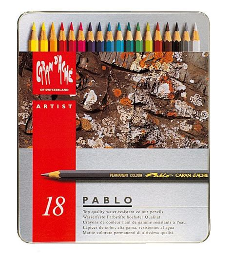 caran d ache colored pencils caran d ache pablo colored pencils 18 pk pencils