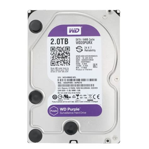 Wdc 2tb Purple Surveillance 35 Sata Iii western digital wd purple 4tb surveillance disk drive desktop hdd intellipower rpm