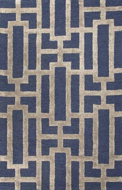 Modern Geometric Blue Taupe Wool Blend Area Rug Urbanite Modern Wool Area Rugs