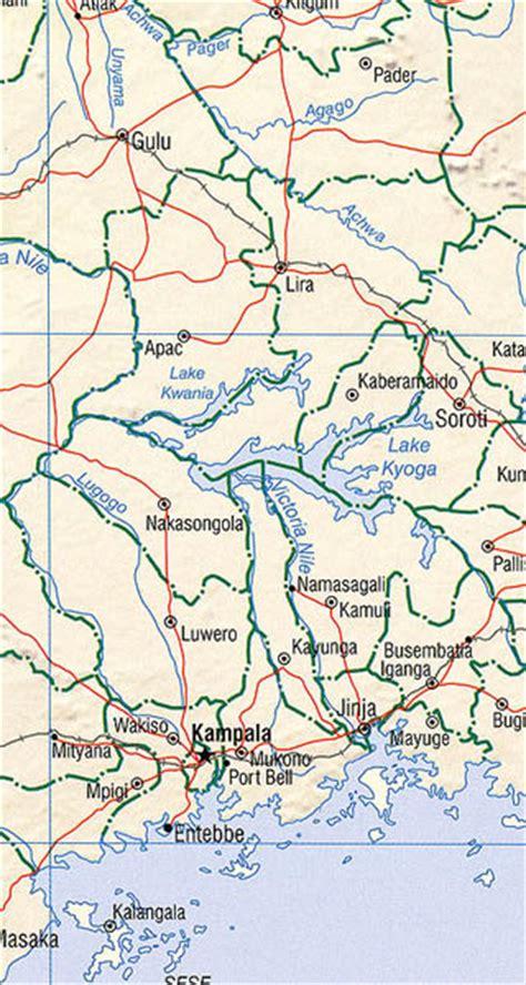 5 themes of geography uganda uganda maps including outline and topographical maps