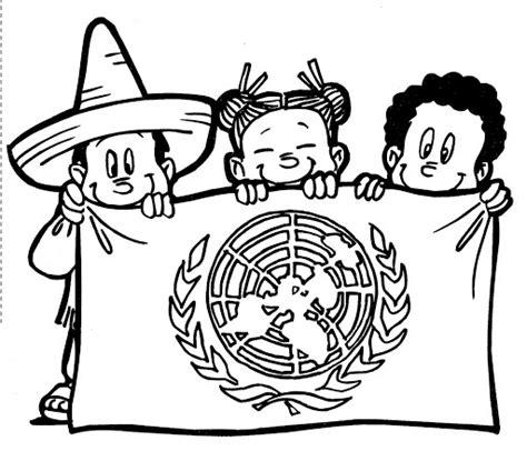 Pinto Dibujos D A De Las Naciones Unidas 24 De   pinto dibujos bandera de las naciones unidas para