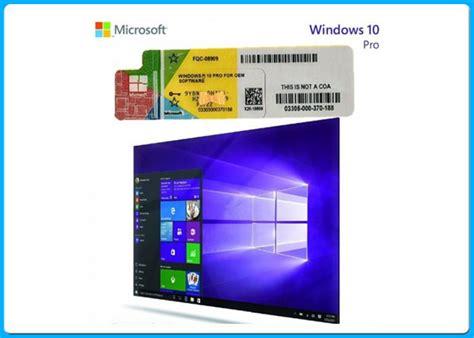 sle of windows 10 pro autoadesivo della licenza coa dell oem
