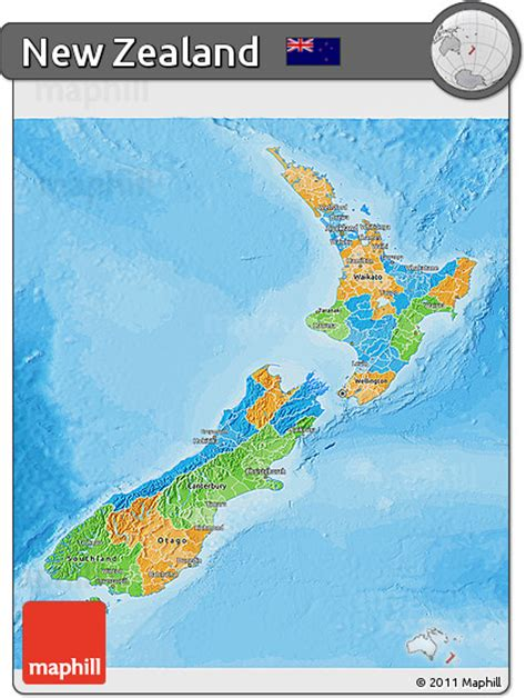political map of new zealand free political 3d map of new zealand