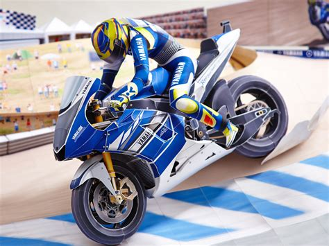 Papercraft Yamaha - motor sports world racing paper crafts origami
