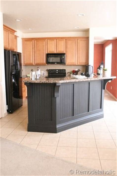 black beadboard kitchen island makeover dream kitchen