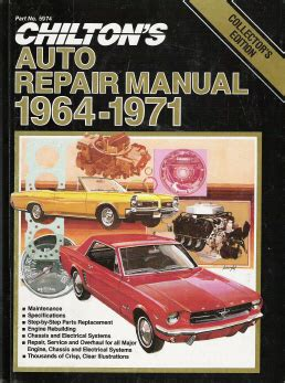 what is the best auto repair manual 1964 ford mustang navigation system 1964 1971 chilton s collector series auto repair manual