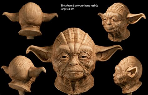 techo master statue sculpture de yoda en humain