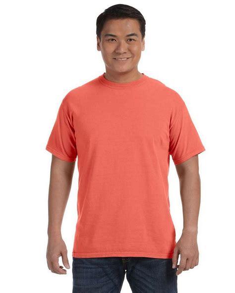 bright salmon comfort colors comfort colors c1717 ringspun garment dyed t shirt
