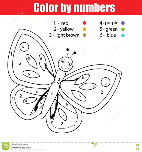 butterfly coloring pages with numbers coloring page with butterfly color by numbers educational