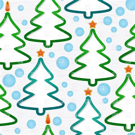abstract tree pattern seamless pattern with abstract christmas trees vector
