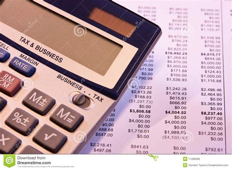 Business Tax Records Time To Calculate Business Tax Royalty Free Stock Photos Image 11280088