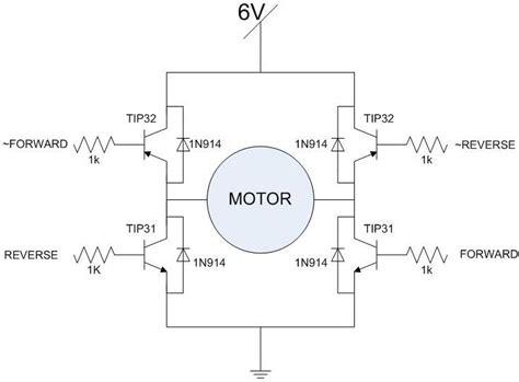 transistor h bridge bjt h bridge