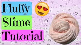 tutorial slime with borax fluffy slime tutorial youtube