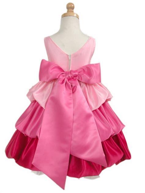 Dress Pink Tri pink fuchsia tri color layered satin dress