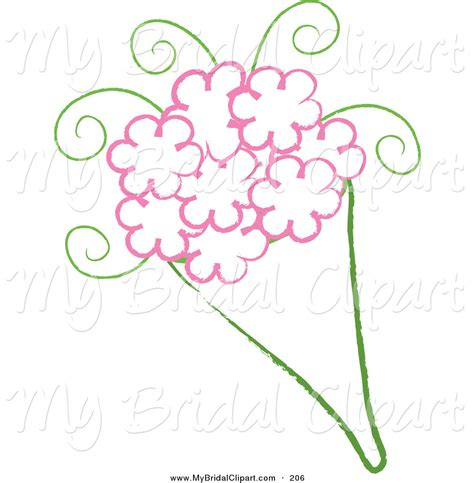 bridal clipart a drawing a wedding bouquet with