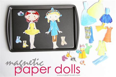 How To Make Magnetic Paper Dolls - magnetic paper dolls