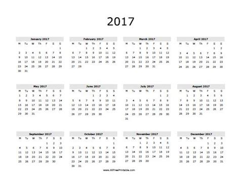 printable yearly calendar 2017 uk 2017 calendar printable with holidays templates usa