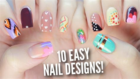 Simple Nail Images by 10 Easy Nail Designs For Beginners The Ultimate Guide