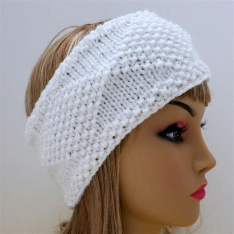 knitted headband pdf 129 pattern headband knit diamonds knitting pattern pdf