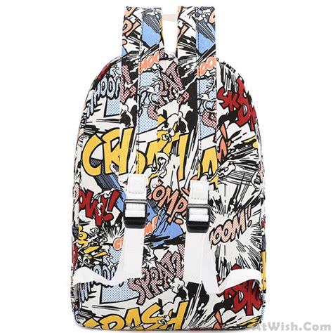 harajuku style graffiti cartoon backpack fashion