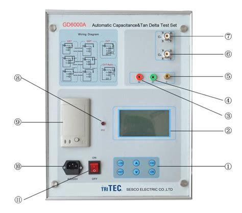 capacitor dielectric ratio delta power factor capacitance cvt ratio