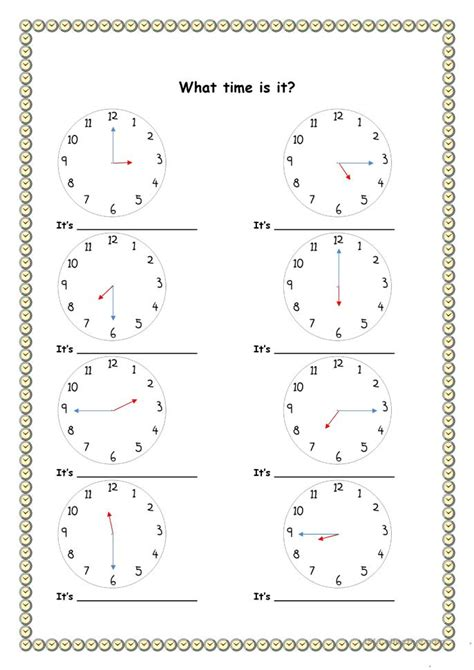 printable ticket template 19883 telling the time esl worksheets