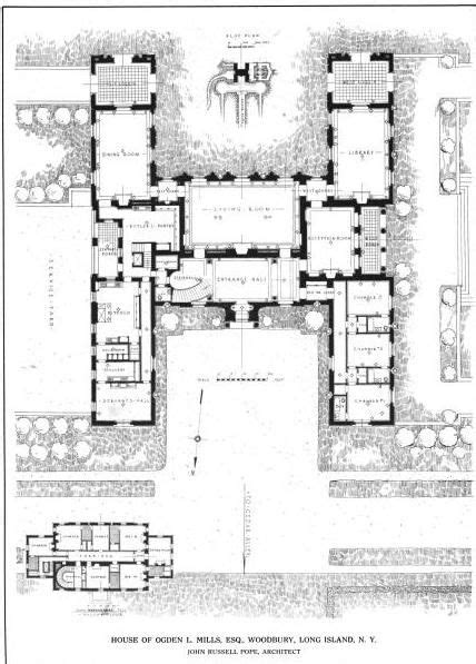 Groombridge Place Floor Plan by Ogden Mills House Floor Plans Pinterest