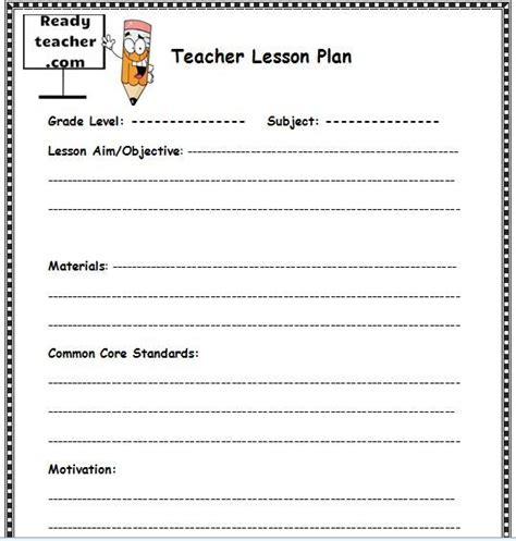 20 lesson plan templates free download word excel pdf