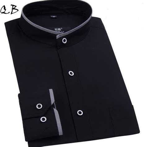 Mandarin Black And White white black mandarin collar shirt for shirt slim fit