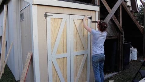 ideas   plans    build  shed door