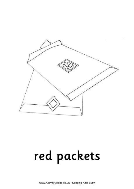 red envelope coloring page