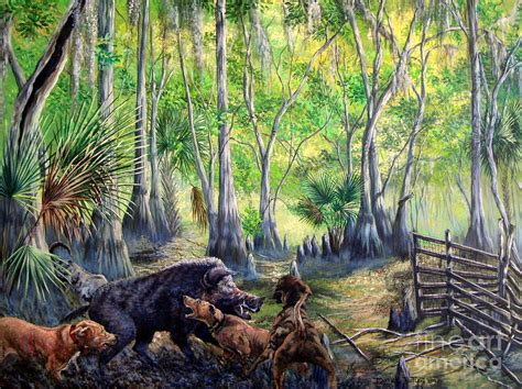 hogs and dogs hogs and dogs a southern tradition painting by daniel butler