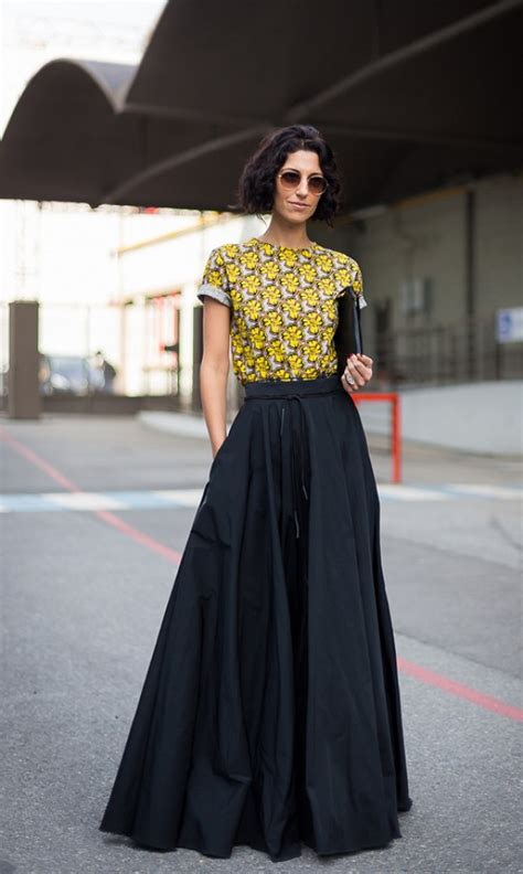 how to wear black maxi skirts in summer closetful of clothes