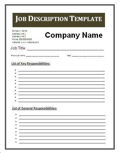description template search business