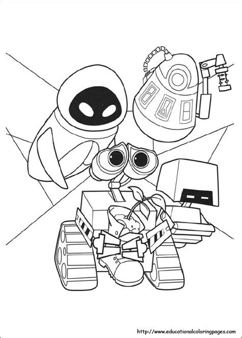 Wall E Coloring Pages by Wall E Coloring Pages Educational Coloring