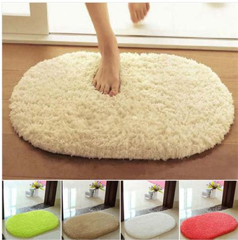 oval bathroom rugs lint plush non slip absorbent bathroom mat oval kitchen