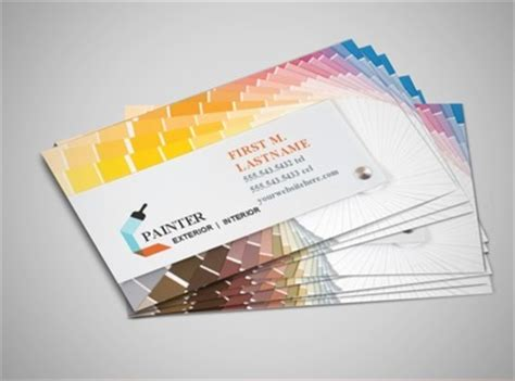 painting business cards templates document moved