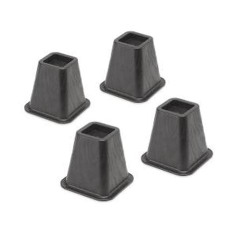 home depot bed risers whitmor black plastic bed risers set of 4 6511 3349 blk