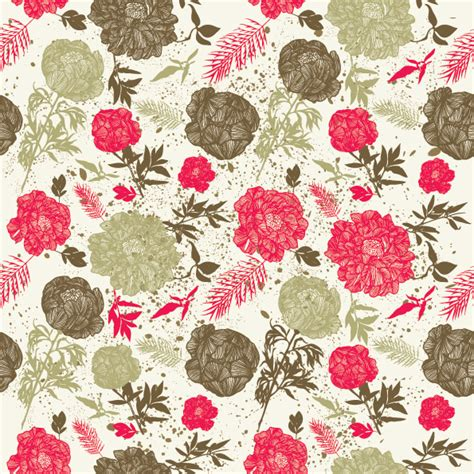 Vector line drawing fashion flowers background Free Vector / 4Vector