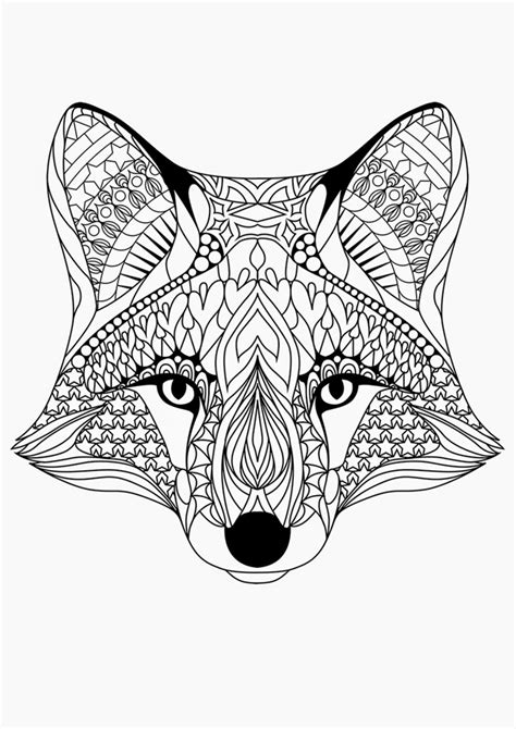 coloring pages for adults fox free printable coloring pages for adults 12 more designs