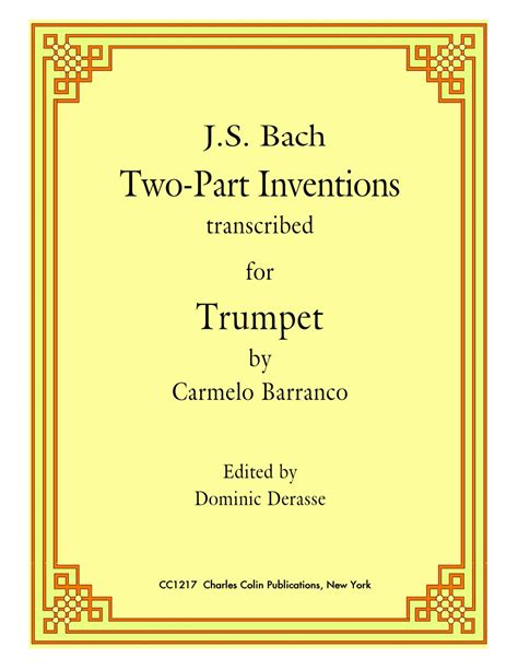 Buku Piano J S Bach Two Part Inventions Cd Included bach 2 part inventions for trumpet charles colin