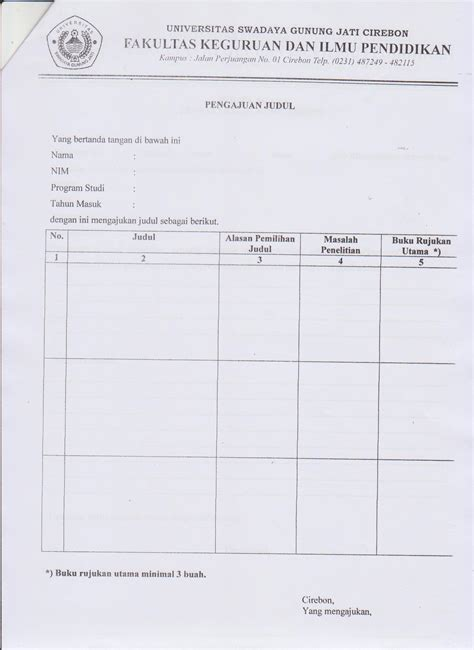syarat untuk membuat judul skripsi pengumuman untuk mahasiswa program studi pendidikan