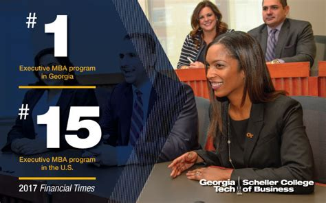 Gatech Mba Admissions by Tech S Executive Mba Program Ranked 15 Among U S