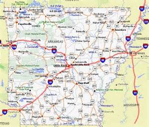 arkansas poster dealers and travel map