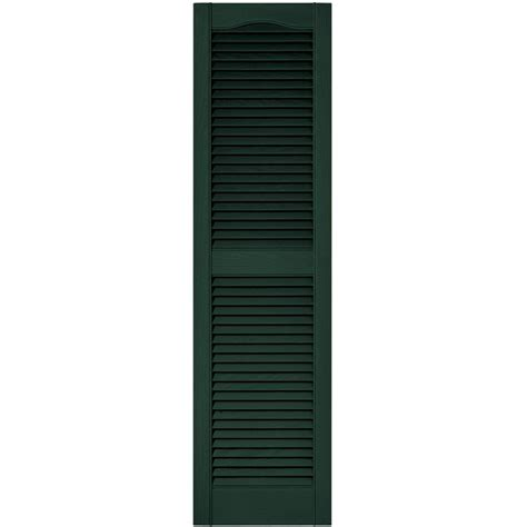 builders edge 15 in x 80 in louvered vinyl exterior
