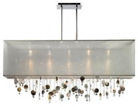Rectangular Dining Room Light Fixtures Finishing Touches 44 Quot Wide Rectangular Pendant Chandelier Lsplus Contemporary