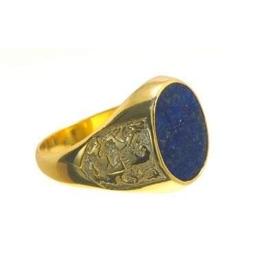 heraldic lapis of scotland ring