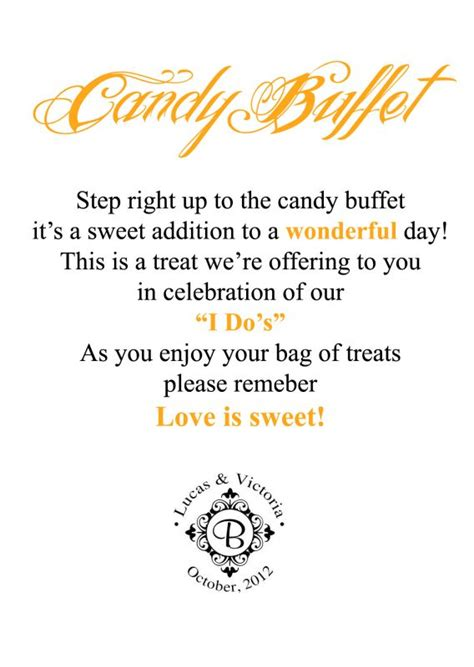 Candy Buffet Sign Update Weddingbee Photo Gallery Wedding Buffet Sayings
