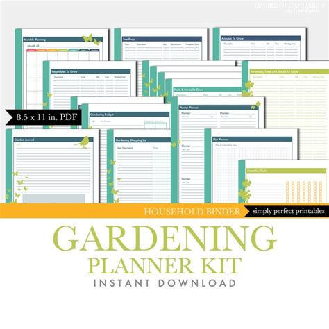 garden journal template pin by aimee mcdaniel on organizing as if